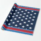 American Flag Patriotic USA Stars and Bars Wrapping Paper