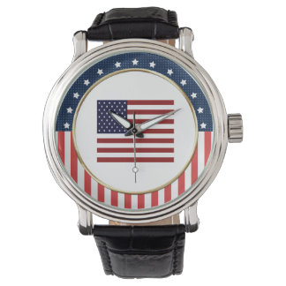 American Flag Patriotic Wrist Watch