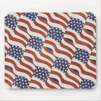 American Flag Pattern Mousepad