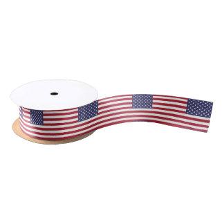 American flag pattern ribbon satin ribbon