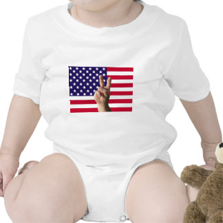 American Flag & Peace Sign T-shirt