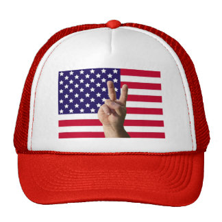 American Flag & Peace Sign Trucker Hats