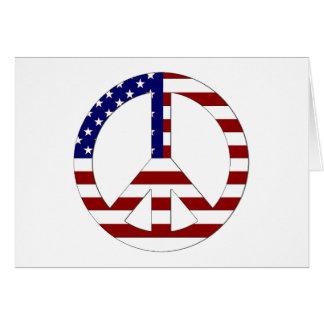 American Flag Peace sign USA Card