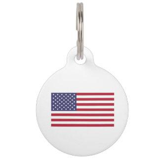 American Flag Pet Name Tag