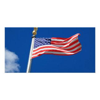 American Flag Photo Greeting Card