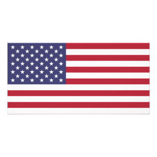 American Flag Personalized Photo Card