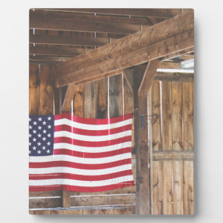 American Flag Photo Plaques