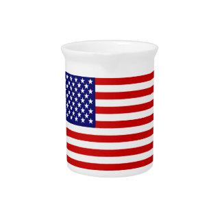 American flag pitcher
