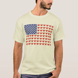 American Flag Polar Bear T-Shirt