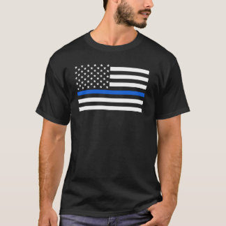 American Flag Police Thin Blue Line T-Shirt