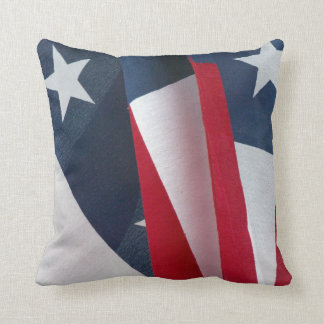 "American Flag Polyester Throw Pillow 16"" x 16"" Cushion"