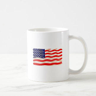 American Flag Popsicle Stick Folkart Basic White Mug