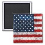 American Flag Portrait Square Magnet Fridge Magnets