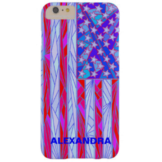 American Flag Red White And Blue USA Patriotic Barely There iPhone 6 Plus Case