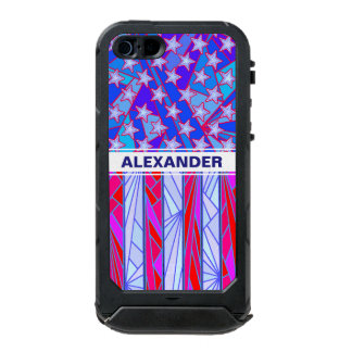 American Flag Red White And Blue USA Patriotic Incipio ATLAS ID™ iPhone 5 Case
