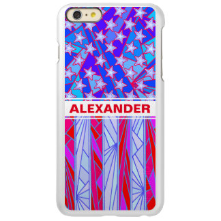 American Flag Red White And Blue USA Patriotic Incipio Feather® Shine iPhone 6 Plus Case