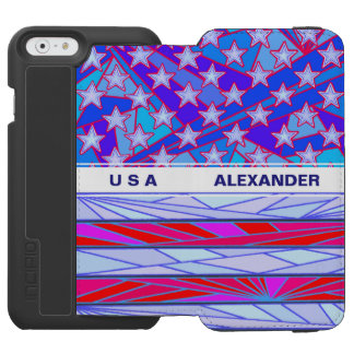 American Flag Red White And Blue USA Patriotic Incipio Watson™ iPhone 6 Wallet Case