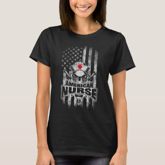 American Flag Registered Nurse T-Shirt