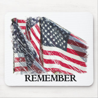 American Flag Remember Mouse Pad