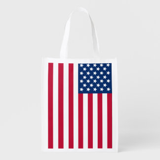 American Flag Reusable Grocery Bag