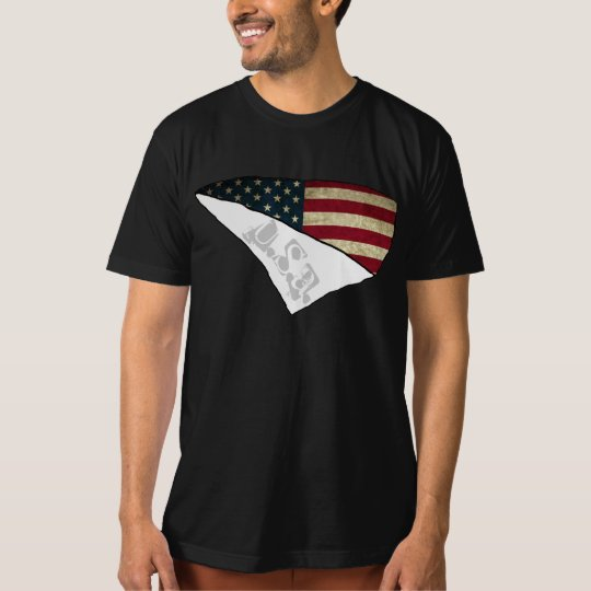 american flag ripped text usa T-Shirt