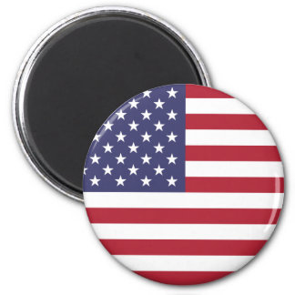 American Flag Round Magnet