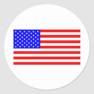 AMERICAN FLAG ROUND STICKER