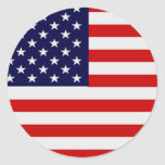 American Flag Round Stickers