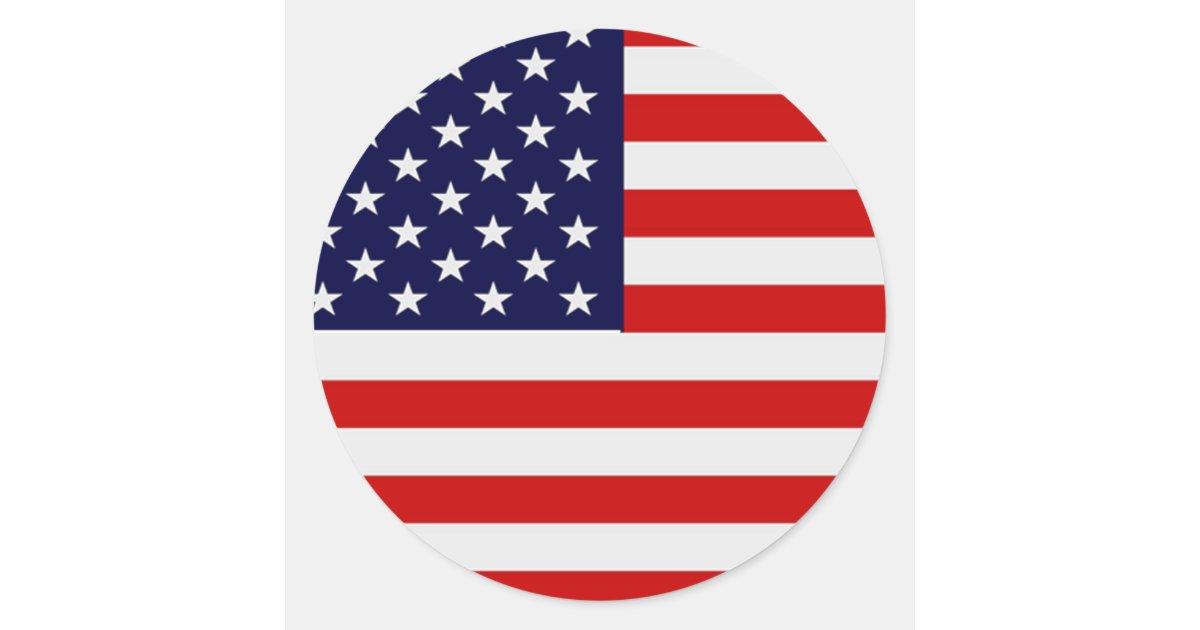American flag round stickers zazzle co uk