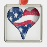 American Flag Scribble Ornament