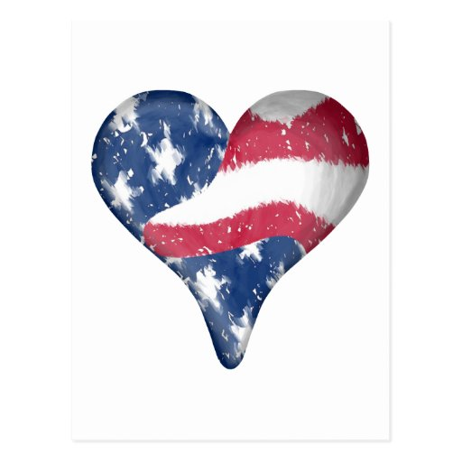 American Flag Scribble Postcard
