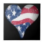 American Flag Scribble Tile