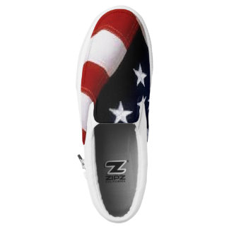 American Flag Shoes-slipon Printed Shoes