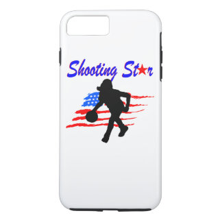 AMERICAN FLAG SHOOTING STAR BASKETBALL GIRL iPhone 7 PLUS CASE