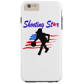 AMERICAN FLAG SHOOTING STAR BASKETBALL GIRL TOUGH iPhone 6 PLUS CASE