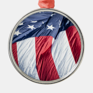 American flag Silver-Colored round decoration