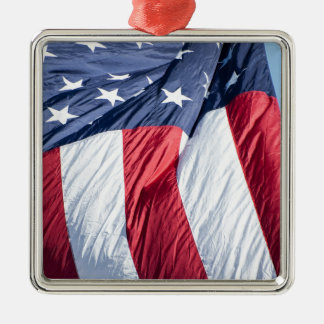 American flag Silver-Colored square decoration