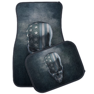American Flag Skull Car Mats Full Set