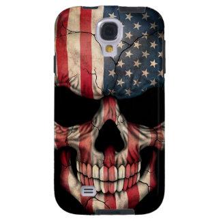 American Flag Skull Galaxy S4 Case