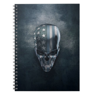 American Flag Skull Notebook