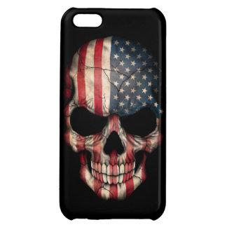 American Flag Skull on Black iPhone 5C Case