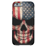 American Flag Skull on Black Tough iPhone 6 Case