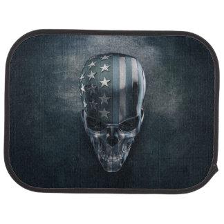 American Flag Skull Rear Car Mats