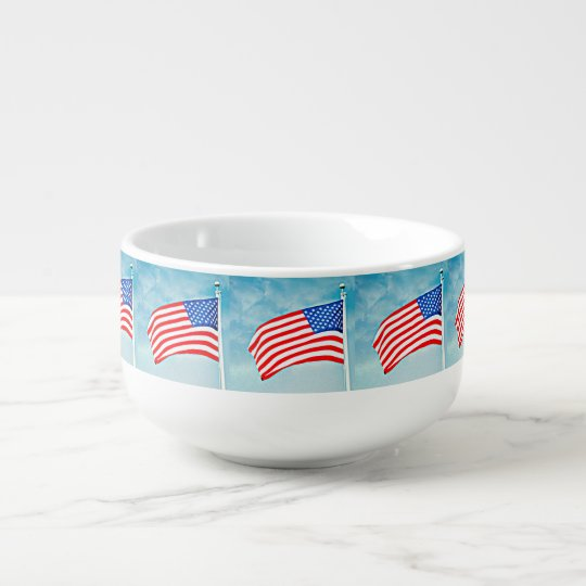 American Flag Soup Mug