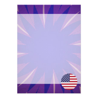 American Flag Souvenir 13 Cm X 18 Cm Invitation Card
