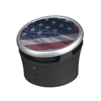 American flag. speaker