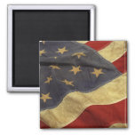 American Flag Square Magnet