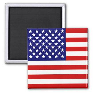 American flag square magnet