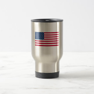 American Flag Stainless Steel Travel Mug