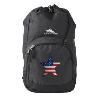 American Flag Star Backpack